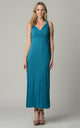 Women's Surplice Smocked Maxi Dress