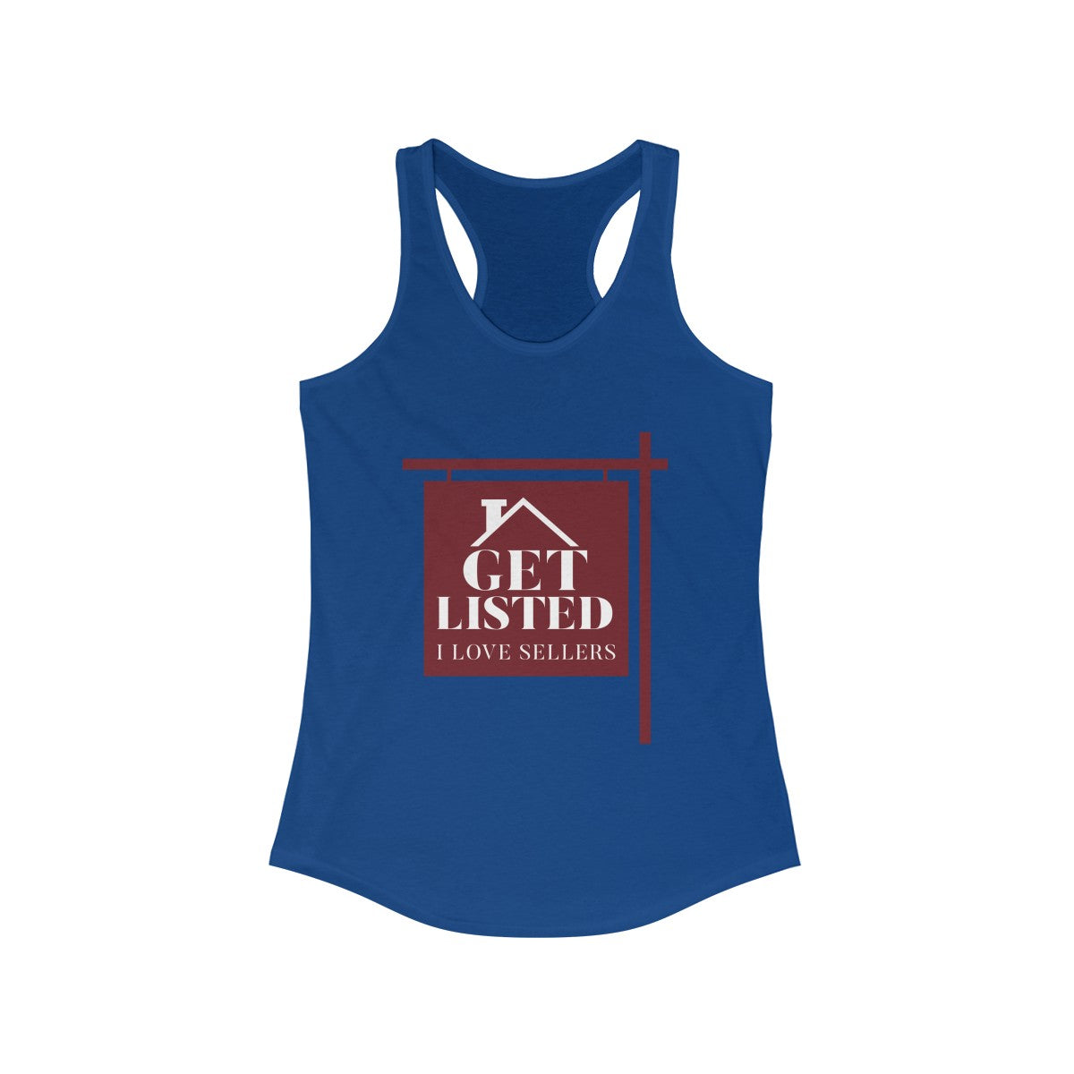 Get Listed! I Love Sellers Women's Ideal Racerback Tank