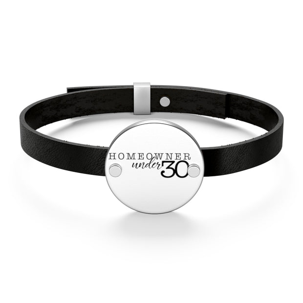 Homeowner Under 30 Leather Bracelet
