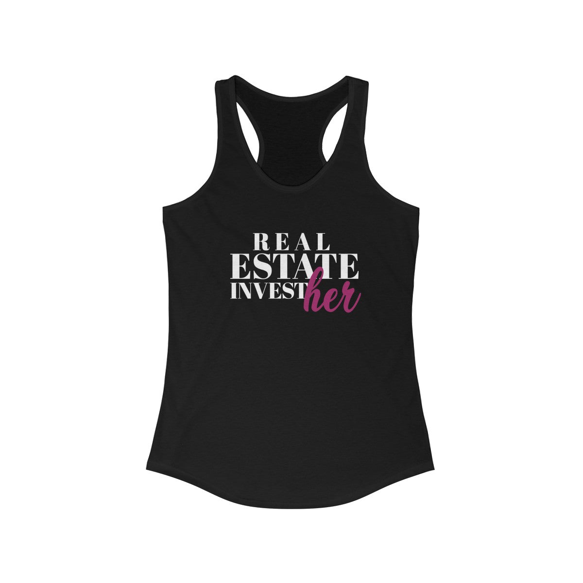 Real Estate InvestHer Women's Ideal Racerback Tank