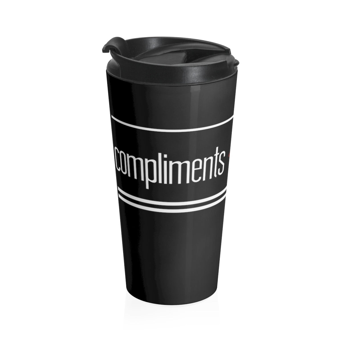 Compliments < Referrals Stainless Steel Travel Mug
