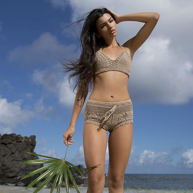 Mila Bikinis Boho Crochet Shorts - Raw Skin Surf Shack
