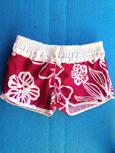 Coral Reef Girls 7-16 Hibiscus Board Short - Raw Skin Surf Shack