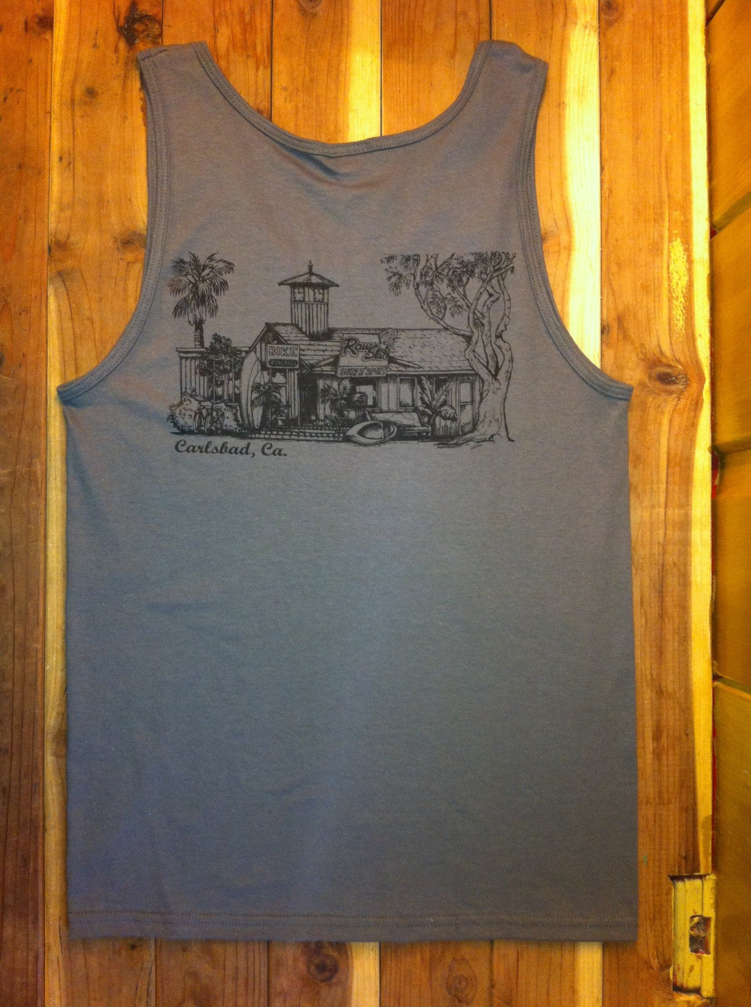 Mens The Shack Tank Top - Raw Skin Surf Shack