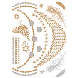 Metallic Tattoo Cards - Raw Skin Surf Shack