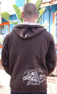 Mens Surfer Dude Sherpa Sweatshirt - Raw Skin Surf Shack