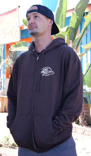 Mens Surfer Dude Zip Up Sweatshirts