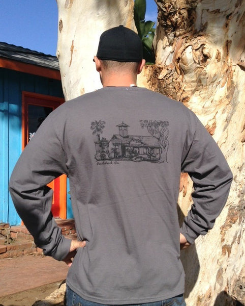 Mens The Shack Long Sleeve - Raw Skin Surf Shack