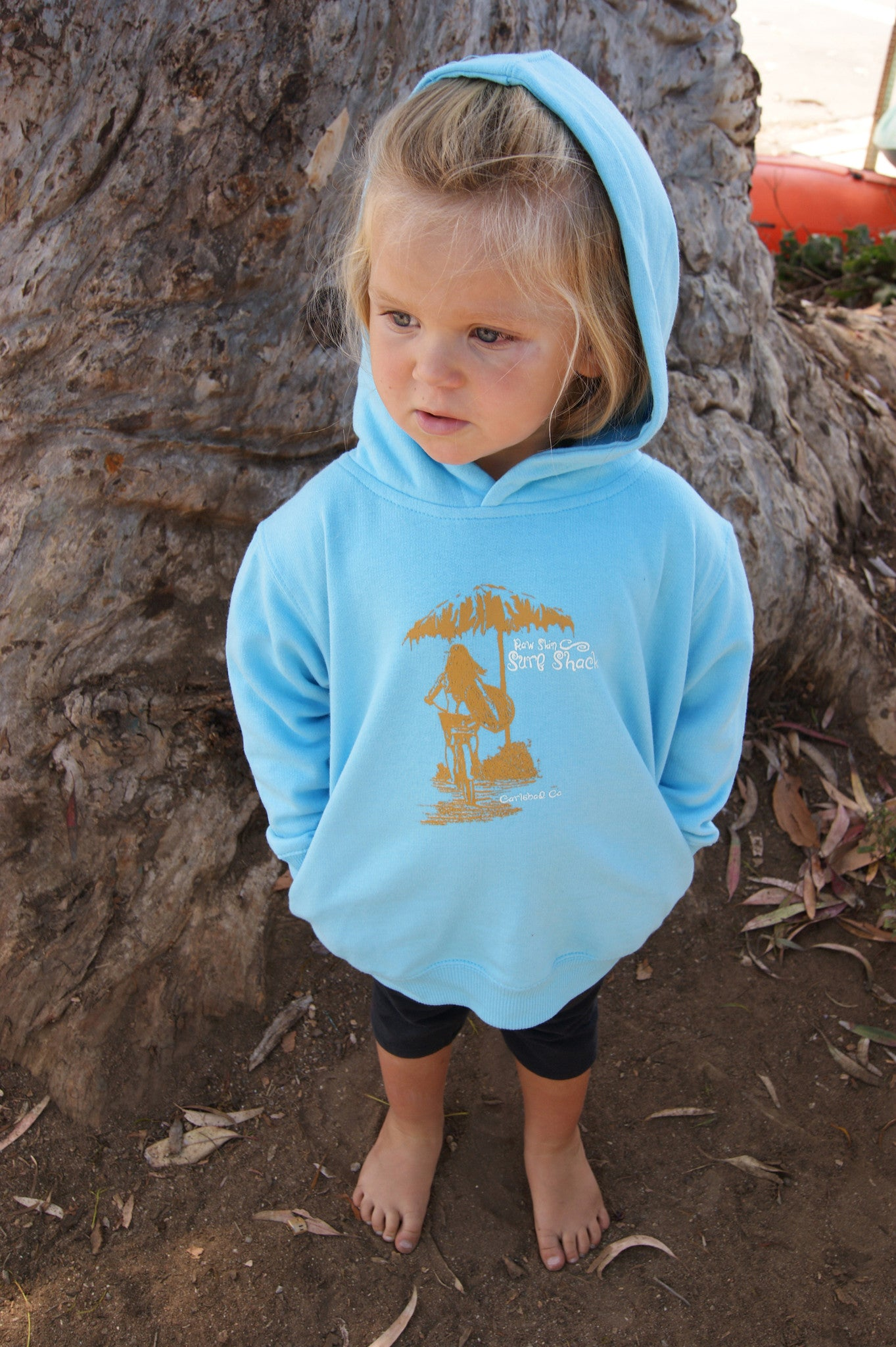 Bicycle Girl Toddler Pull Over Hooded Sweatshirt