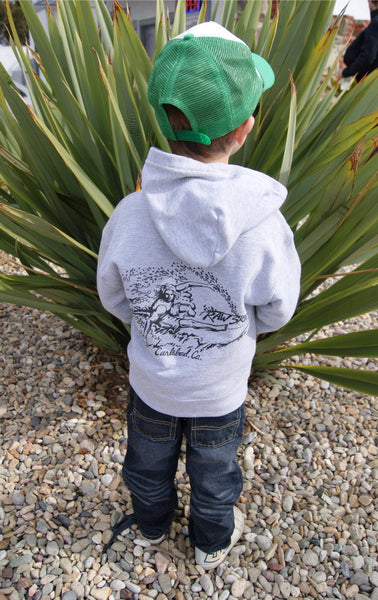 Kids Surfer Dude Zip-Up Sweatshirt