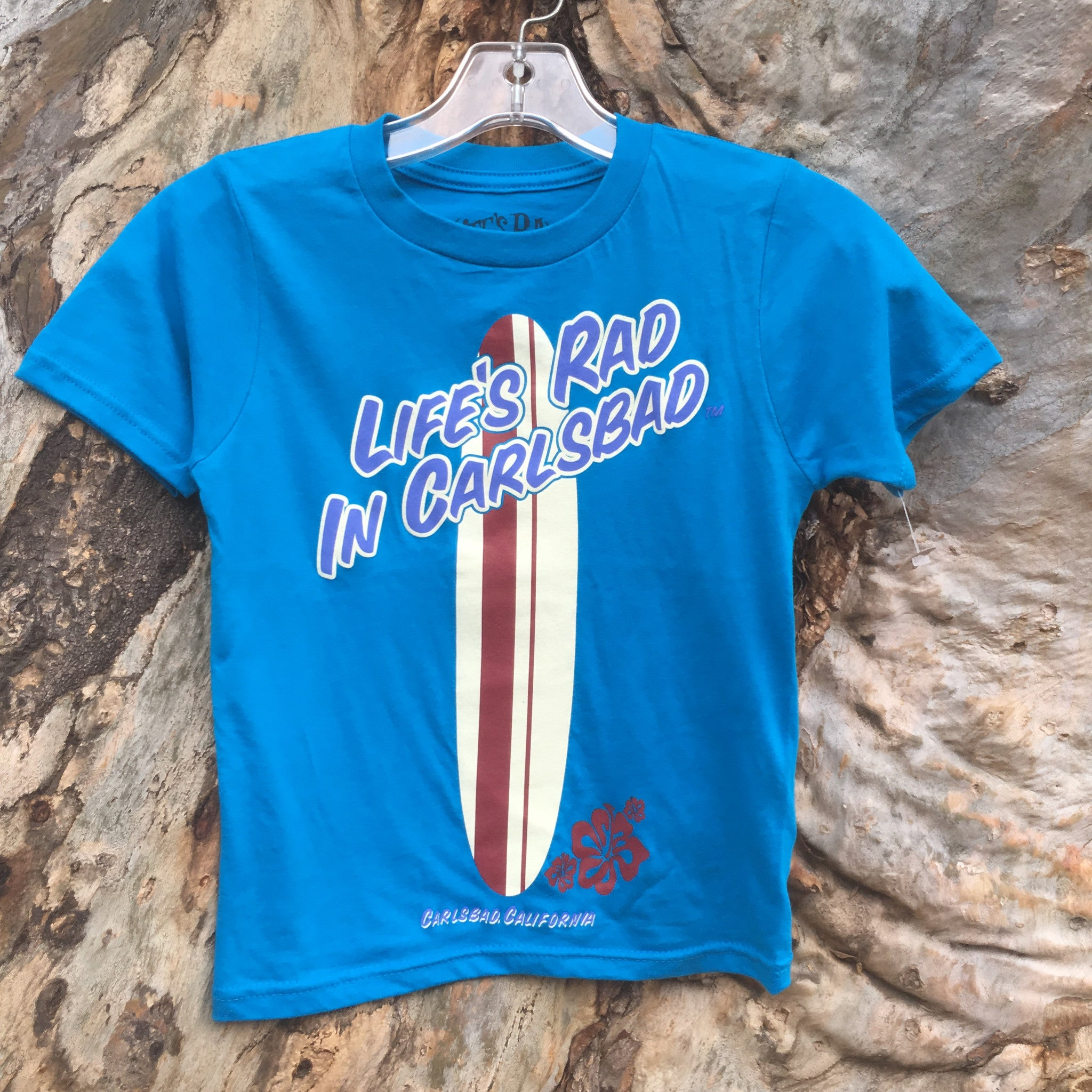 Kids Life's Rad Longboard T-Shirt - Raw Skin Surf Shack