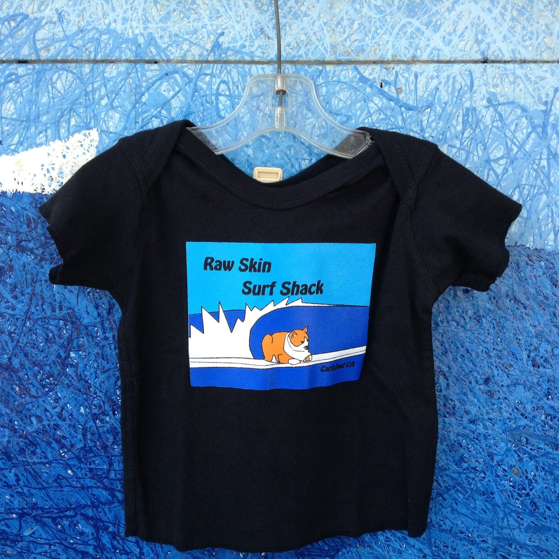 Kids Cat in the Shack Lap Shoulder T-Shirt - Raw Skin Surf Shack