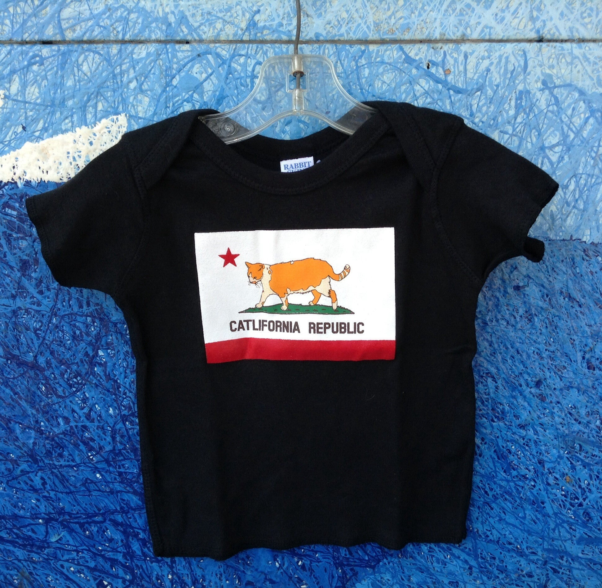 Kids Catlifornia Lap Shoulder T-Shirt - Raw Skin Surf Shack