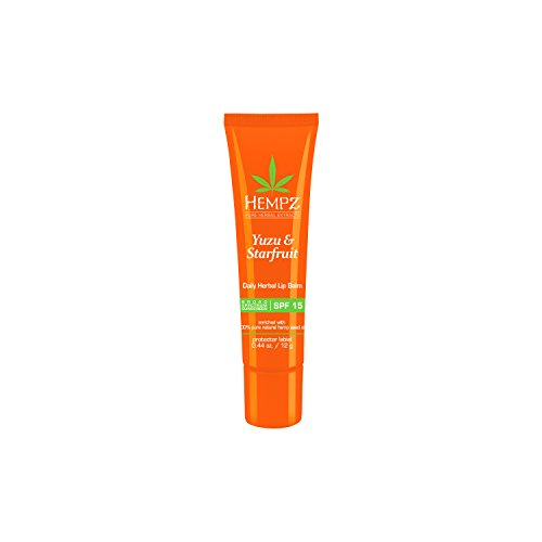 Hempz Yuzu & Starfruit Daily Herbal Lip Balm with SPF 15 - Coco Mink Lashes