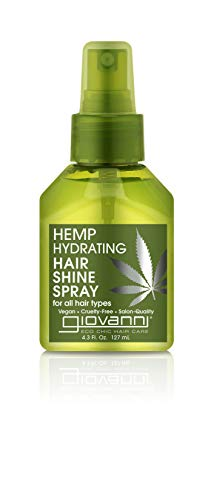 Hemp Hydrating Hair Shine Spray, 4.3 Hair Gloss, Hemp Seed Oil, Aloe Vera Moisturize and Revitalize Hair