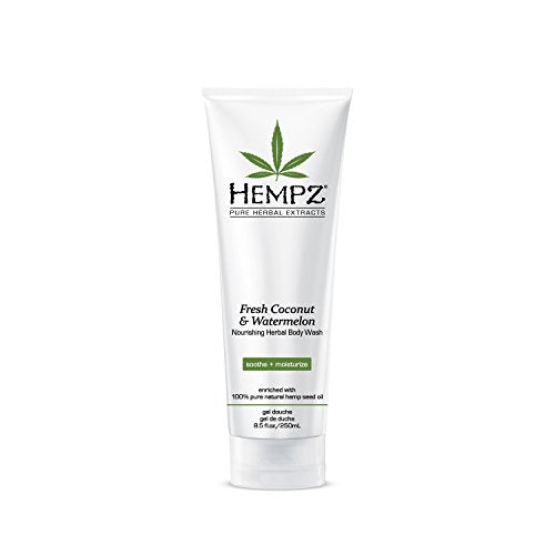 Hempz Fresh Coconut and Watermelon Nourishing Herbal Body Wash - Coco Mink Lashes