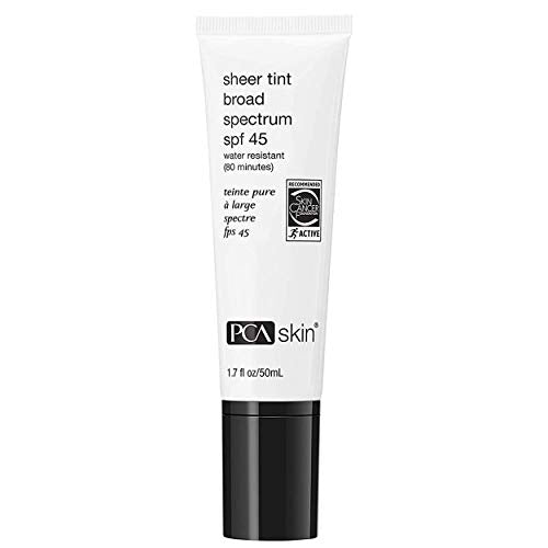 PCA SKIN Sheer Tint Broad Spectrum SPF 45, 1.7 Fl Oz - Coco Mink Lashes
