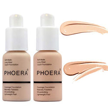 Load image into Gallery viewer, 2 Pcs PHOERA Soft Matte Full Coverage Liquid Foundation Brighten Highlighting Matte