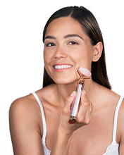 Load image into Gallery viewer, Finishing Touch Flawless Contour Vibrating Facial Roller & Massager, Rose Quartz