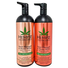 Load image into Gallery viewer, Hempz Sweet Pineapple & Honey Melon Shampoo & Conditioner - Coco Mink Lashes
