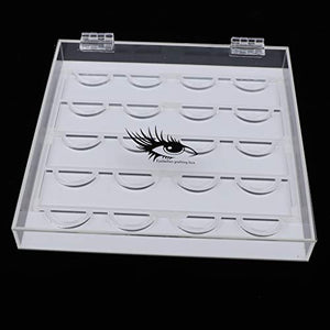 Clear Acrylic Eyelash Holder Case - Coco Mink Lashes