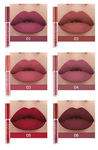 6Pcs Matte Liquid Lipstick Makeup Set
