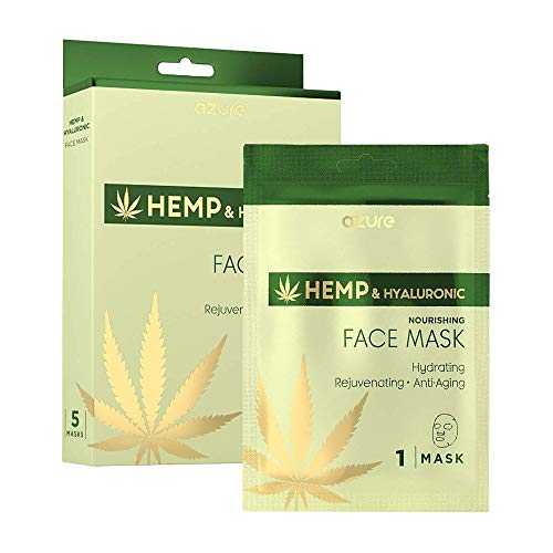 AZURE Hemp & Hyaluronic Nourishing Sheet Face Mask - Coco Mink Lashes