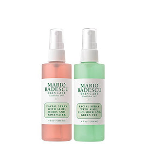 Mario Badescu Facial Spray with Rosewater & Facial Spray with Green Tea Duo - Coco Mink Lashes