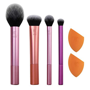 Real Techniques Makeup Brush Set with 2 Sponge Blenders for Eyeshadow