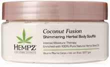 Load image into Gallery viewer, Hempz Coconut Fusion Herbal Shimmering Body Souffle - Coco Mink Lashes