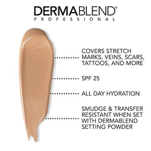 Dermablend Leg and Body Makeup, with SPF 25. Skin Perfecting Body Foundation for Flawless Legs with a Smooth, Even Tone Finish, 3.4 Fl. Oz. - Coco Mink Lashes