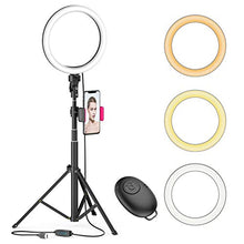 "Load image into Gallery viewer, 8"" LED Selfie Ring Light for Live Stream/Makeup/YouTube Video, Dimmable Beauty Ringlight"