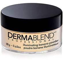 Load image into Gallery viewer, Dermablend Illuminating Banana Powder, Loose Setting Powder Makeup for Brightening and a Long-Lasting Luminous Finish, up to 16hr Wear, 0.63 oz - Coco Mink Lashes