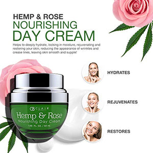 CLAIR BEAUTY Hemp & Rose Nourishing Day Cream - Coco Mink Lashes
