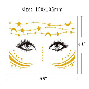 Gold Glitter Face Tattoo - Coco Mink Lashes