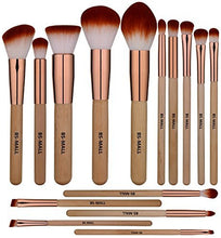 Load image into Gallery viewer, BS-MALL Makeup Brush Set 15 Pcs Wooden Eyeshadow - Coco Mink Lashes