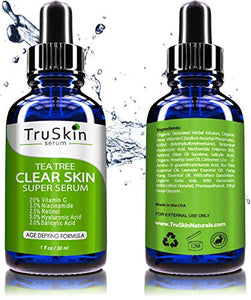 Tea Tree Clear Skin Serum, Age-Defying formula for acne-prone skin - Coco Mink Lashes