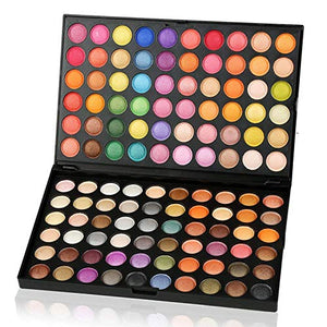 SLAM Beauty Eyeshadow Palette Makeup for Eyes 120 Colors - Coco Mink Lashes