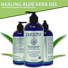 Load image into Gallery viewer, Organic Aloe Vera Gel Original Lavender (16oz) USDA Certified - Deeply Hydrating, Moisturizing Skin & Hair - Sunburn, Bug Bites, Rashes, Small Cuts, Eczema Relief (Packaging may vary) - Coco Mink Lashes