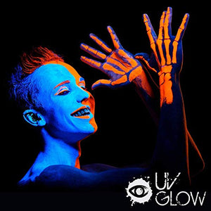 UV Glow Blacklight Face and Body Paint 0.34oz - Set of 6 Tubes - Neon Fluorescent - Coco Mink Lashes