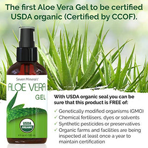 Organic Aloe Vera Gel USA Grown 100% Pure Free of GMOs - Coco Mink Lashes