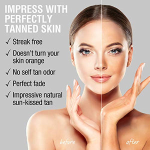 Self Tanner for Face – Face Tanner w/Hyaluronic Acid and Organic Oils, Self Tanners Best Sellers, Facial Sunless Tanning Serum for Natural Sunkissed Glow, Fake Tan Moisturizer 2.0 fl