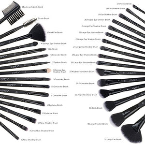 Makeup Brush Set, USpicy 32 Pcs - Coco Mink Lashes