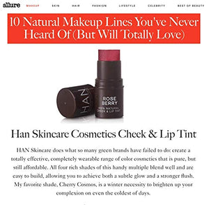 HAN Skincare Cosmetics All Natural Cheek and Lip Tint, Cherry Cosmos