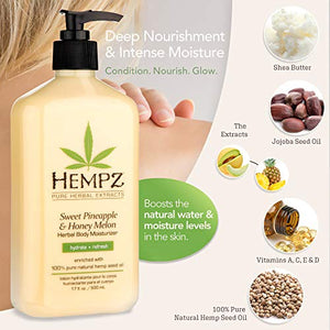 Hempz Sweet Pineapple & Honey Melon Moisturizing Skin Lotion - Coco Mink Lashes