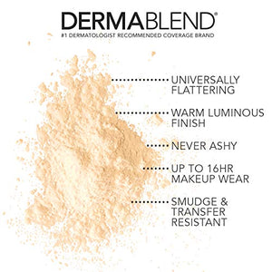 Dermablend Illuminating Banana Powder, Loose Setting Powder Makeup for Brightening and a Long-Lasting Luminous Finish, up to 16hr Wear, 0.63 oz - Coco Mink Lashes