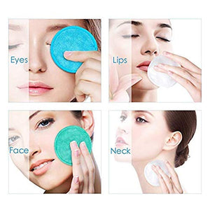 Reusable Makeup Remover Pads - Face Cleansing Wipes Soft Cotton 16 Pcs