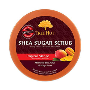 Tree Hut Shea Sugar Scrub Tropical Mango, 18oz, Ultra Hydrating and Exfoliating Scrub for Nourishing Essential Body Care - Coco Mink Lashes