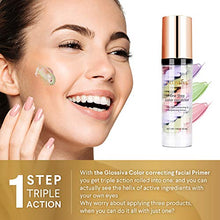 Load image into Gallery viewer, Glossiva Makeup Primer One Step Color Corrector - Coco Mink Lashes