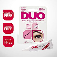 Load image into Gallery viewer, DUO Strip EyeLash Adhesive for Strip Lashes, Dark Tone, 0.25 oz - Coco Mink Lashes